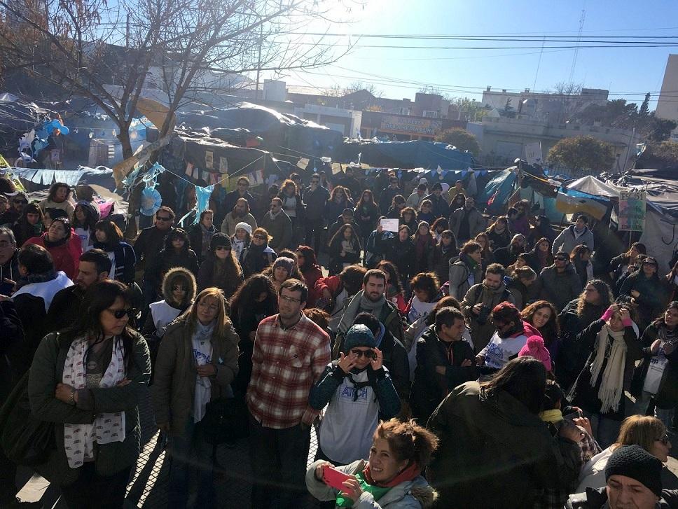 ATECh continuará con los acampes y el sostenimiento de las ocupaciones pacíficas en toda la provincia.