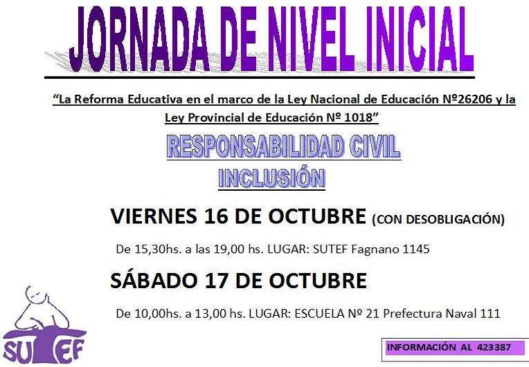 Jornada Pedagógica de Nivel Inicial